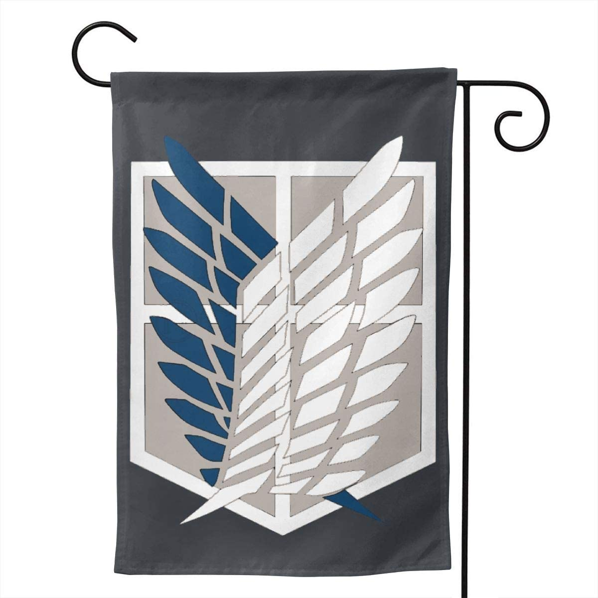 NOT Scouting Legion - Attack On Titan Outdoor Decor Garden Flag for All Seasons and Holidays Vertical Double Sided 12.5 X 18 Inch Square
