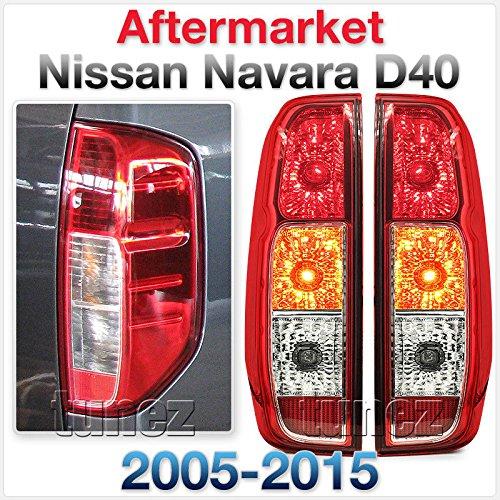 Tunez Navara D40 2005-2015 coppia set Rear Tail Light Lamp LHS RHS Lens