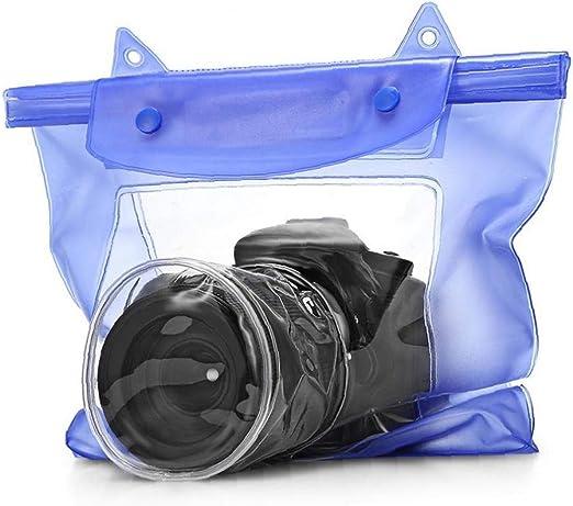 tJexePYK L Tamaño de la cámara Azul Bolsa Impermeable para la ...
