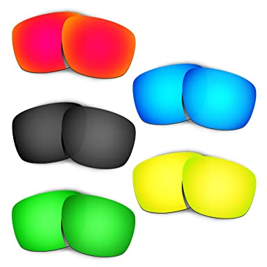 34416a9c088 Amazon.com  Hkuco Mens Replacement Lenses For Oakley Sliver Red Blue ...