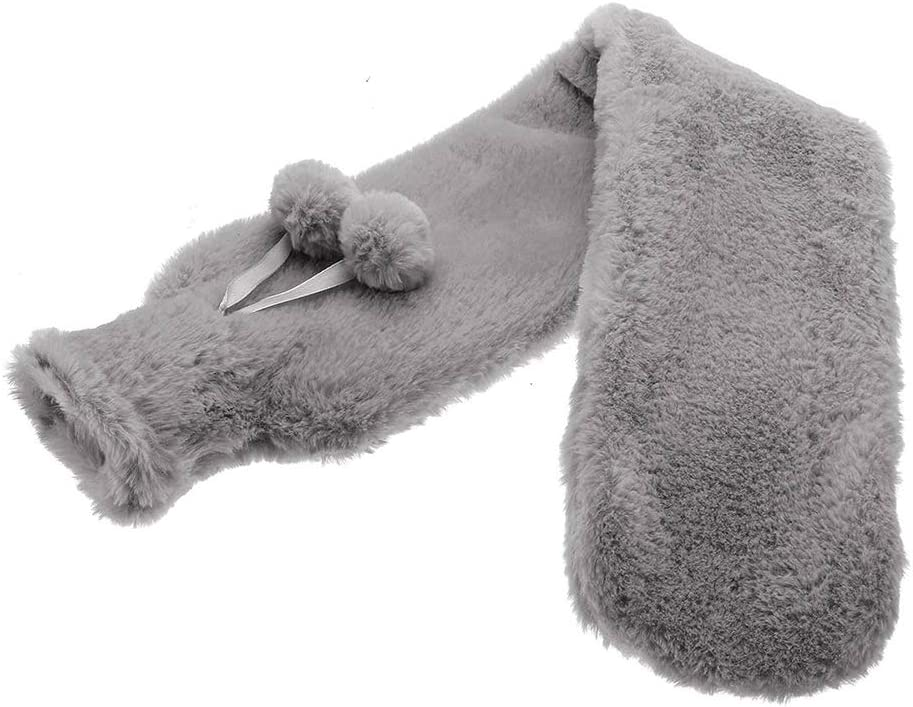 Uyuke Extra Long Hot Water Bottles Bag With Plush Removable Cover Waist Hand Foot Warming