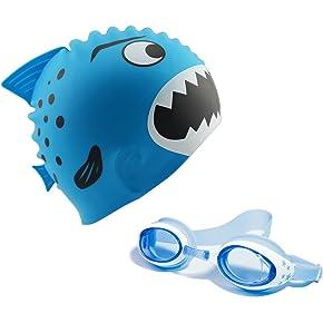 Start Smart Kids Fun Silicone Swim Cap
