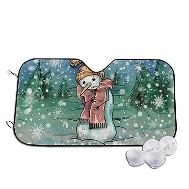 Rterss Snowman parasol para parabrisas exterior para congelar y ...