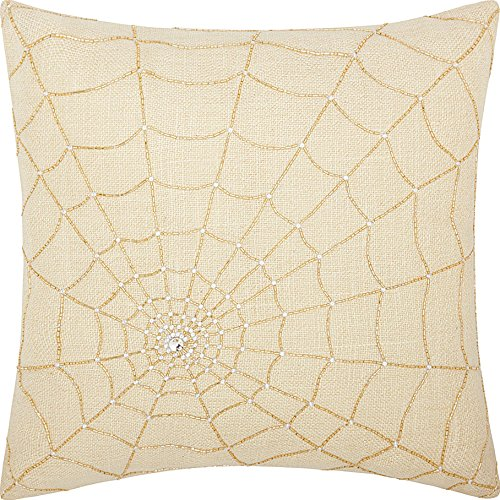 Mina Victory by Nourison DR601 Beaded Spider Web Decorative Pillow, 18