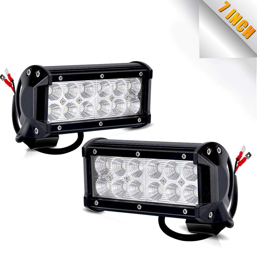 TURBO SII Pair 7 Inch Led Work Light Bar 36w 3200LM Driving Pods Spot Beam Work Lamp For Off-Road Suv Boat 4X4 Jeep JK 4Wd Truck 12V-24V TURBOSII TURBO MARKETING