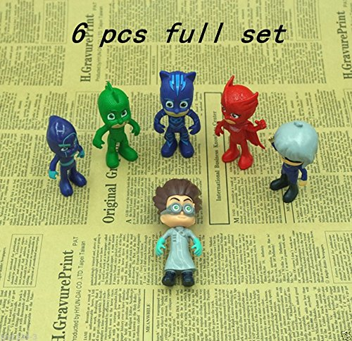 [Masks Action Figure Characters Catboy Owlette Gekko Cloak Toys Doll 6pc/set] (Randy Orton Costume)
