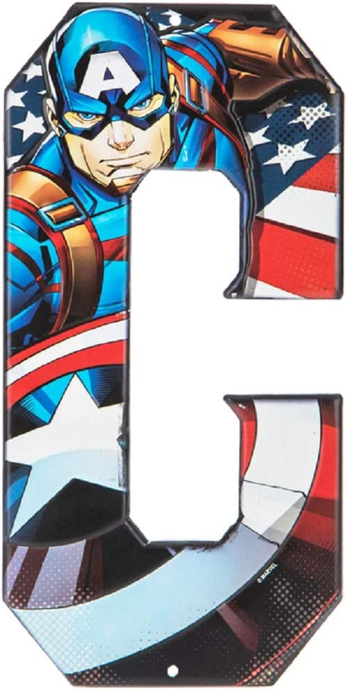 Superhero Letter Metal Wall Decor Marvel and DC Comic Letters (C)