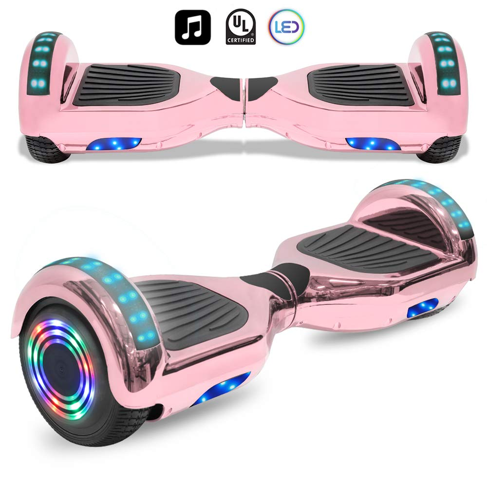 Cho Electric Smart Self Balancing Scooter Hoverboard Built-in LED Wheels Side Lights- UL2272 Certified (Rainbow Style 4 - No Bluetooth)