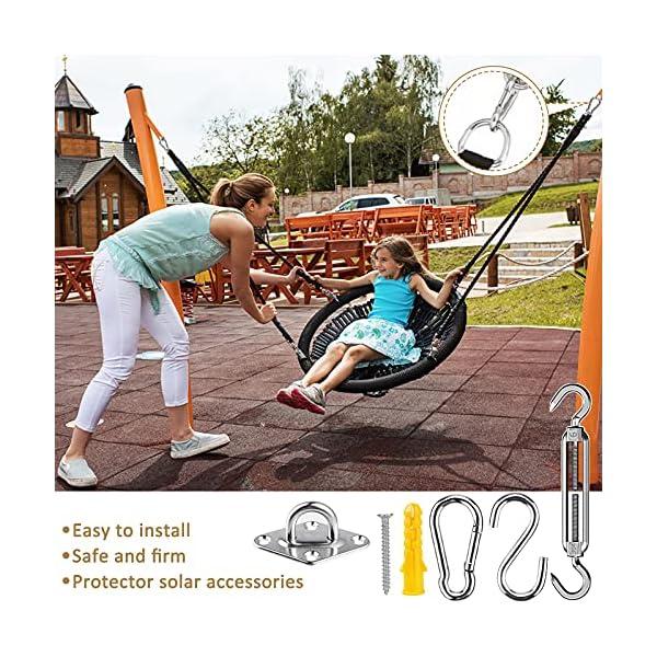61R9oFuY79S Frasheng M6 Sonnensegel Befestigungs Kit,Sonnensegel Befestigung,304 Edelstahl,44-teiliges Hochwertig Rostfrei Edelstahl…