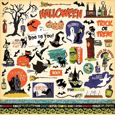 HH71014 Haunted House Cardstock Stickers - Haunted Paper House