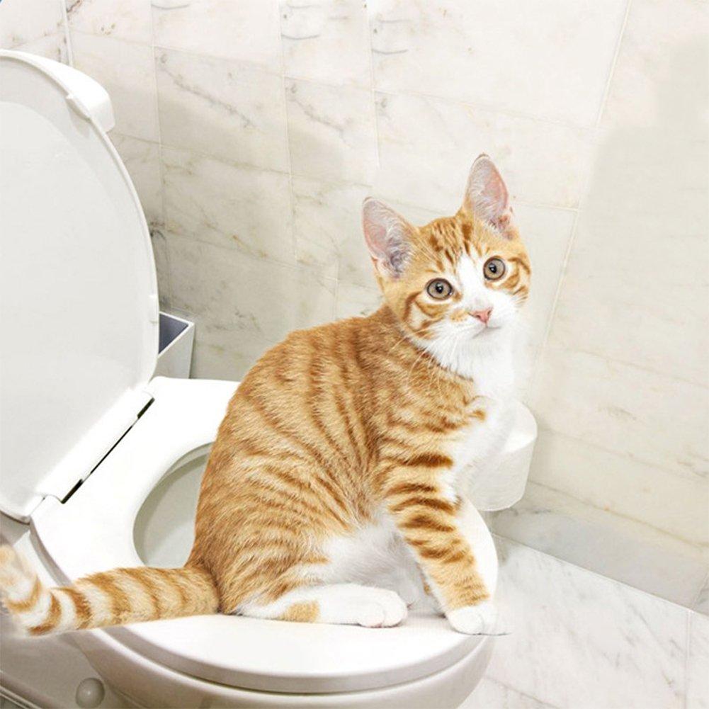 Zantec Kreatives Plastikkatzen Toiletten Trainingskit Toiletten Beh/älter Pipi Trainings Toiletten Haustier Versorgungsmaterialien
