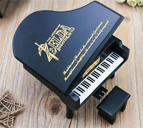 Amazon De Woomax The Legend Of Zelda Spieluhr Mit Schwarzem Klavier Aus Holz Ideales Geschenk Für