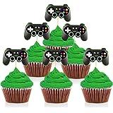 Mity Rain - Juego de mandos de videojuegos, decoración para cupcakes (24 piezas)