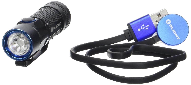 Olight Erwachsene S1R Baton Rechargeable-900 lm Taschenlampe Schwarz
