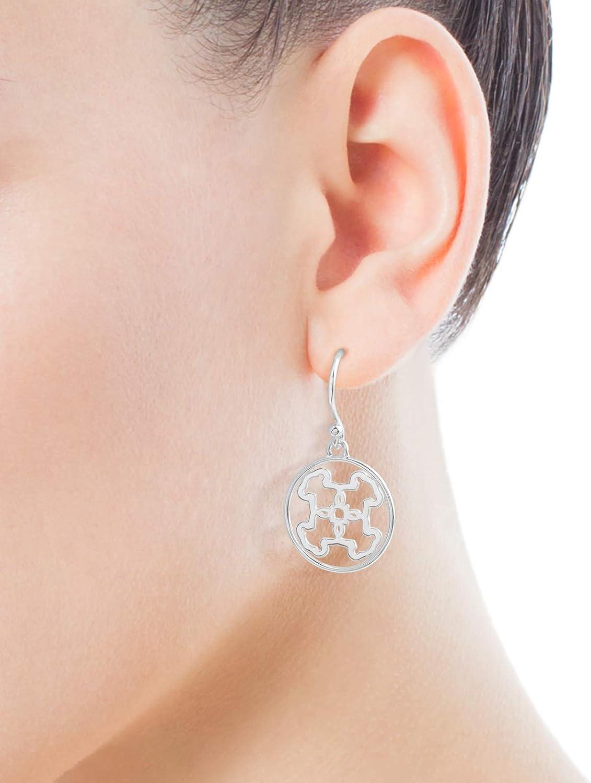 1,7 cm Pendientes de mujer TOUS Mossaic de plata de primera ley Cierre gancho motifo