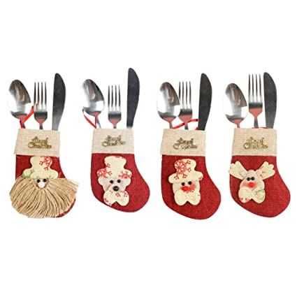 elogoog vajilla bolsas, Papá Noel, alce, muñeco de nieve ...