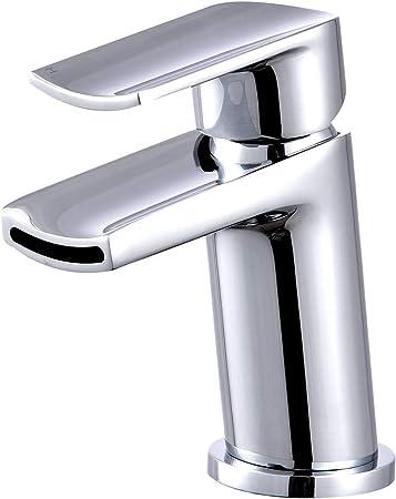 Hapilife Mitigeur monobloc en laiton chrom/é pour lavabo et salle de bain