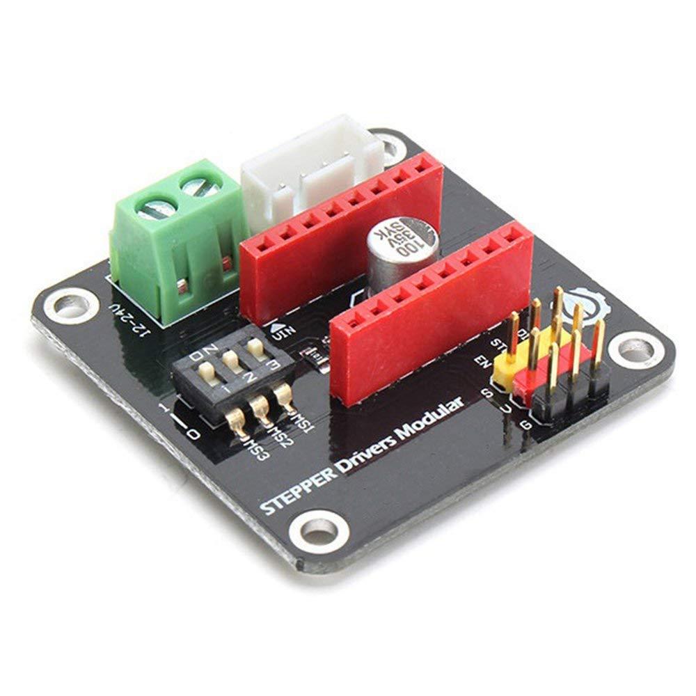 RoadRoma Impresora 3D 42Ch Stepper Motor Driver Shield Expansion Board Drv8825//A4988 Negro