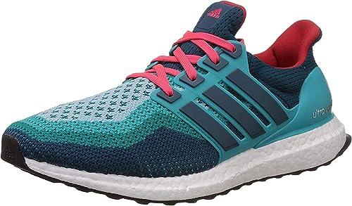 Adidas Ultra Boost M, Zapatillas de Running para Hombre, Verde Azul Rojo Vertra Minera Rojimp, 43 1/3 EU: Amazon.es: Zapatos y complementos