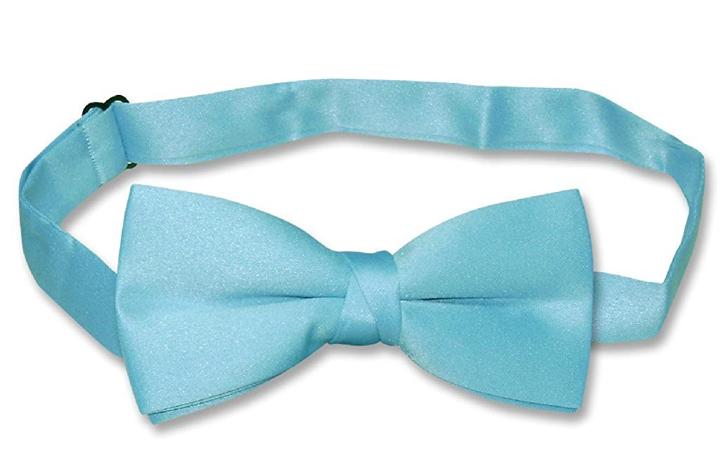 Covona BOYS BOW TIE Solid TURQUOISE BLUE Color BowTie