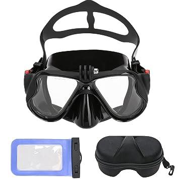 Buceo Gafas, máscara de buceo (con protección caja y agua Densidad funda, snorkel
