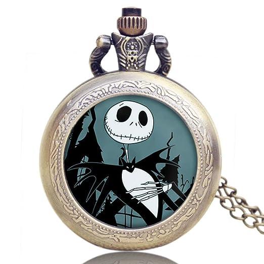 Reloj de Bolsillo para Hombre, Alicia en el país de Las Maravillas, Reloj de Bolsillo de Cuarzo Retro, Hombres y niños: Amazon.es: Relojes