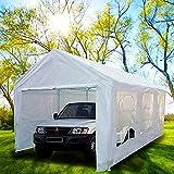 Peaktop 20u0027x10u0027 Heavy Duty Portable Carport Garage Car Shelter Canopy Party  Tent Sidewall