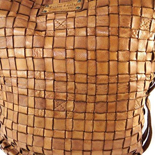 Gianni Borsa pelle cm 33x27x16 Conticognac Borsa in in intrecciato txv5qfI