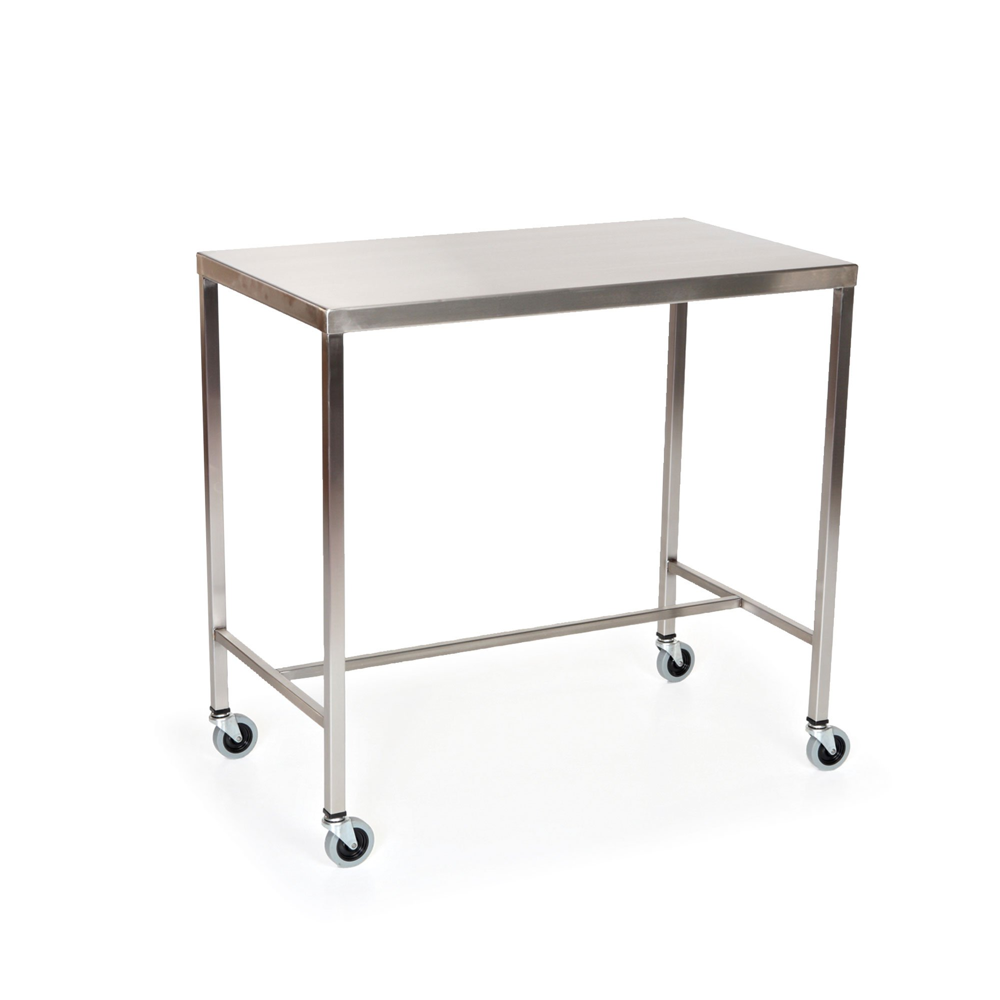 Stainless Steel Instrument Table with H-Brace 36''L x 20''W x 34''H by MID-CENTRAL MEDICAL