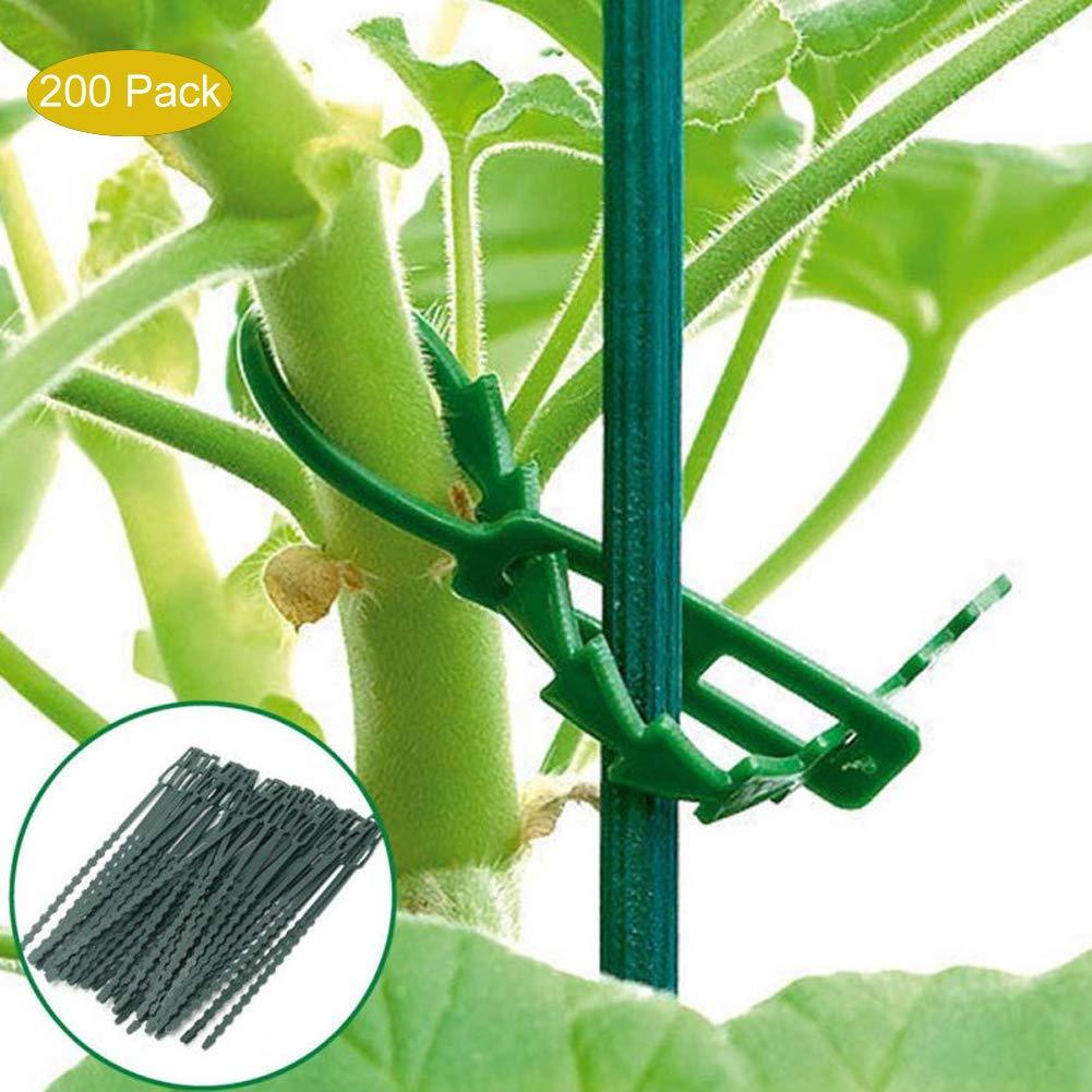 housesweet 200 pcs Flexible Plante Attaches de câbles Jardin en Plastique Attaches réglables Plante Support Arbre Vigne