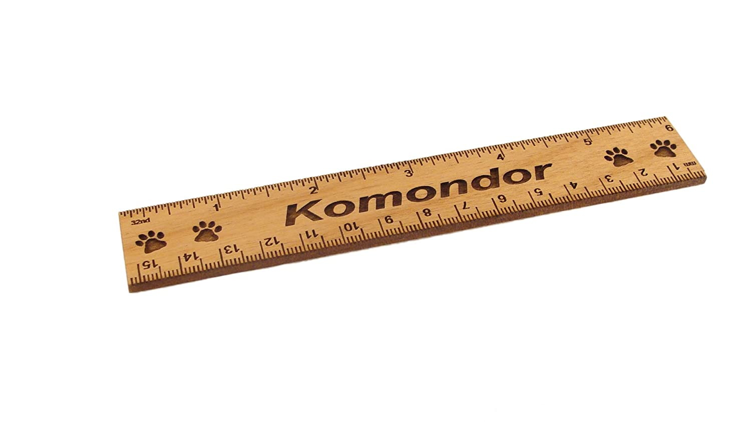 Komondor 6 Inch Alder Wood Ruler Gulf Coast Laser Graphics