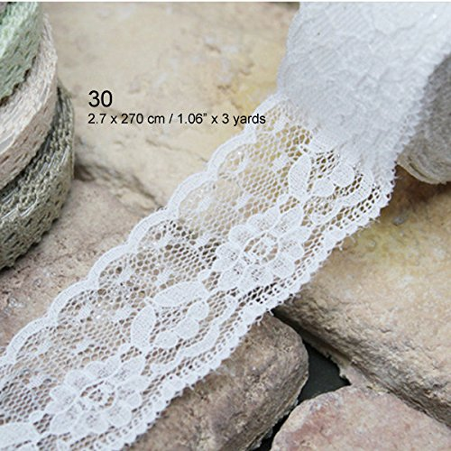 - Craft Adhesive Deco Fabric Tape Rolls Multi-function Adornment Lace Tape (30 Lace Tape)