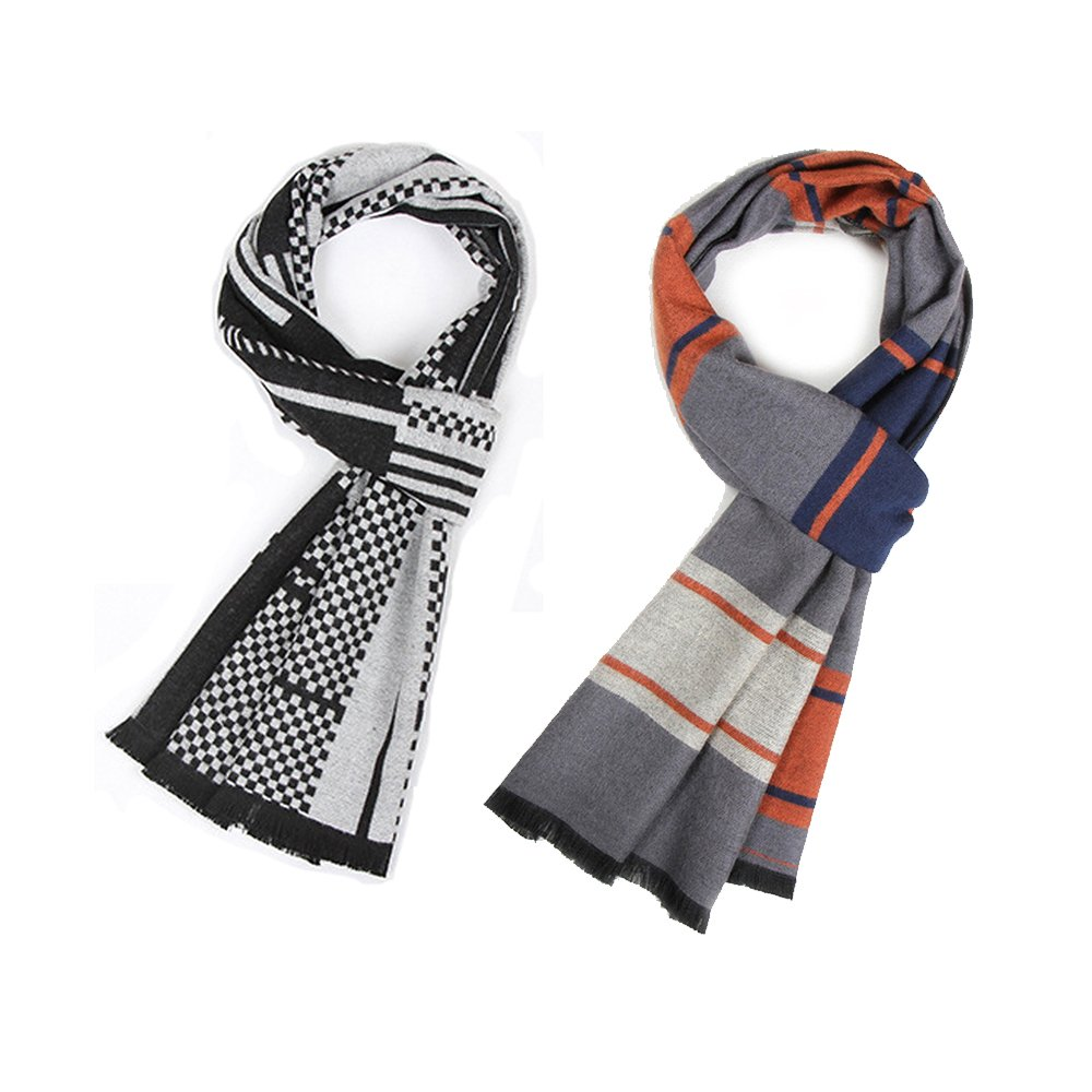 Scarf6 3CLIFE Women's Oversized Autumn Winter Scarf Classic Plaid Scarf Long Soft Wraps Big Scarves Unisex, 180 x 30CM