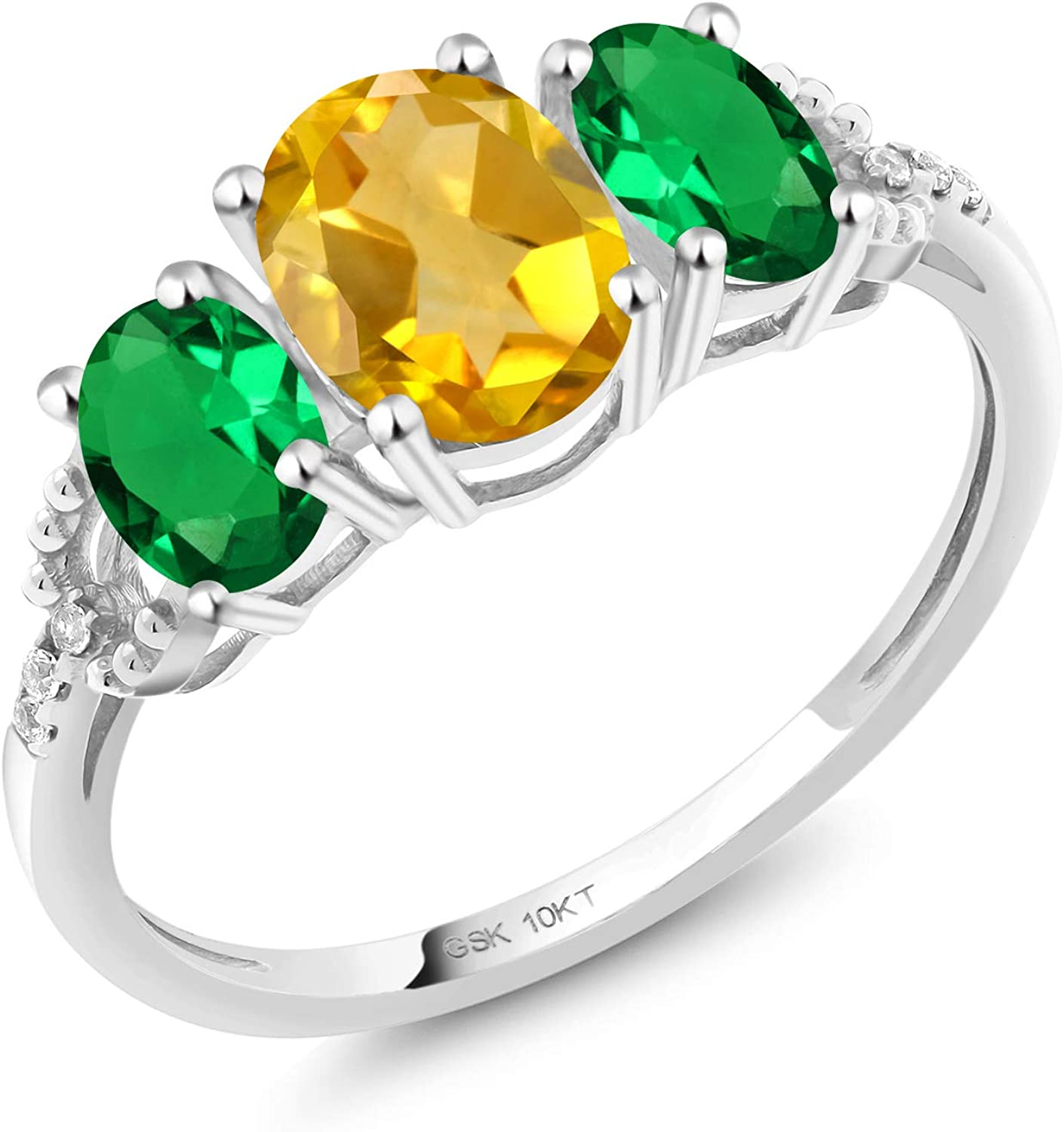 Gem Stone King Build Your Own Engagement Ring Oval Birthstones In 10k White Gold Engagement Ring Amazon Com