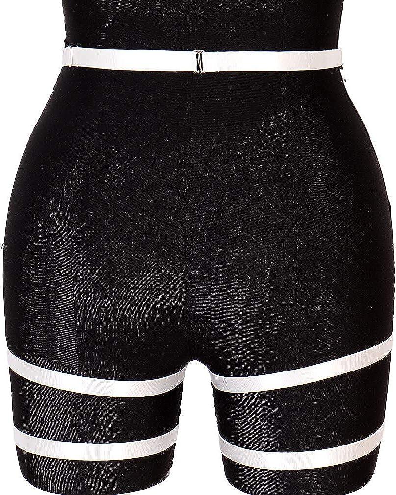 PETMHS Womens Punk Harness Garter Belt Leg Waist Strap Lingerie Thigh Stockings