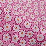 Neotrims Daisy Dasies Print Floral Fabric in 6 Colours. Fat Quarters and By the Meter. Amazing Cheap Wholesale Price for Woven Materail. For Apparel, Crafts, Home Furhinshings, Curtains & Decoration. Patchwork Quilt Making!