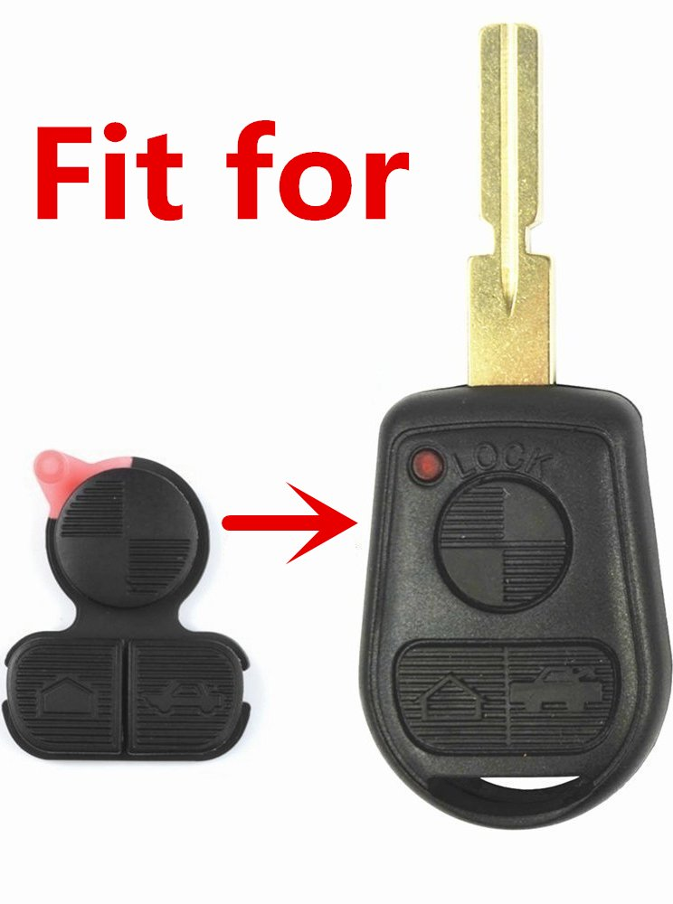 HelloAuto for BMW Key Replacement Button Pad Smart Remote Key Fob ...