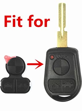 Repair Replacement 3 Button Remote Key Fob Button Pad Fits for BMW