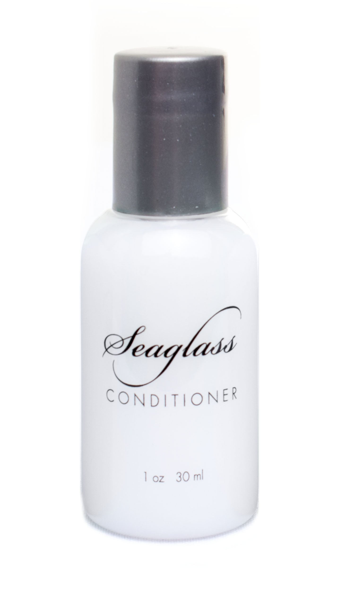 Soul Amenities Seaglass Shimmer Conditioner Transparent Bottle Silver Screw Cap 1.0 oz Individually Wrapped 200 per case
