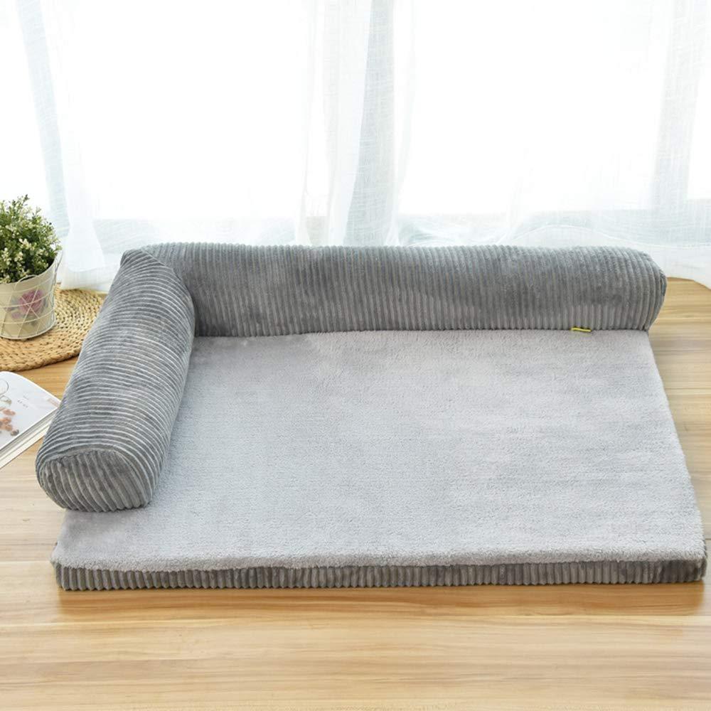 Pet Bed Warmer Pet Mat Winter Thick Warm Dog Blanket Dog Mat Dual Use Pet Cushion Sofa Cushion,Gray,XL