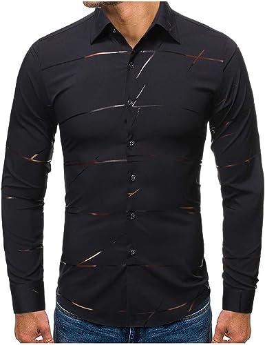 Mstyle Mens Plus Size Slim Fit Fashion Lapel Long Sleeve Floral Printed Button Down Dress Work Shirt