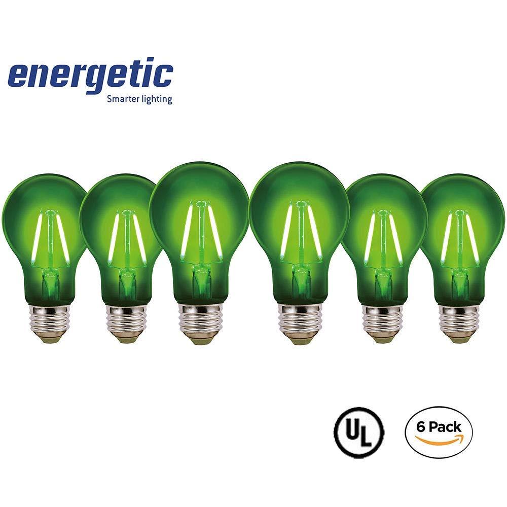 LEDカラーフィラメント電球 6 Pack グリーン B07KY3WCL2 グリーン 6 Pack