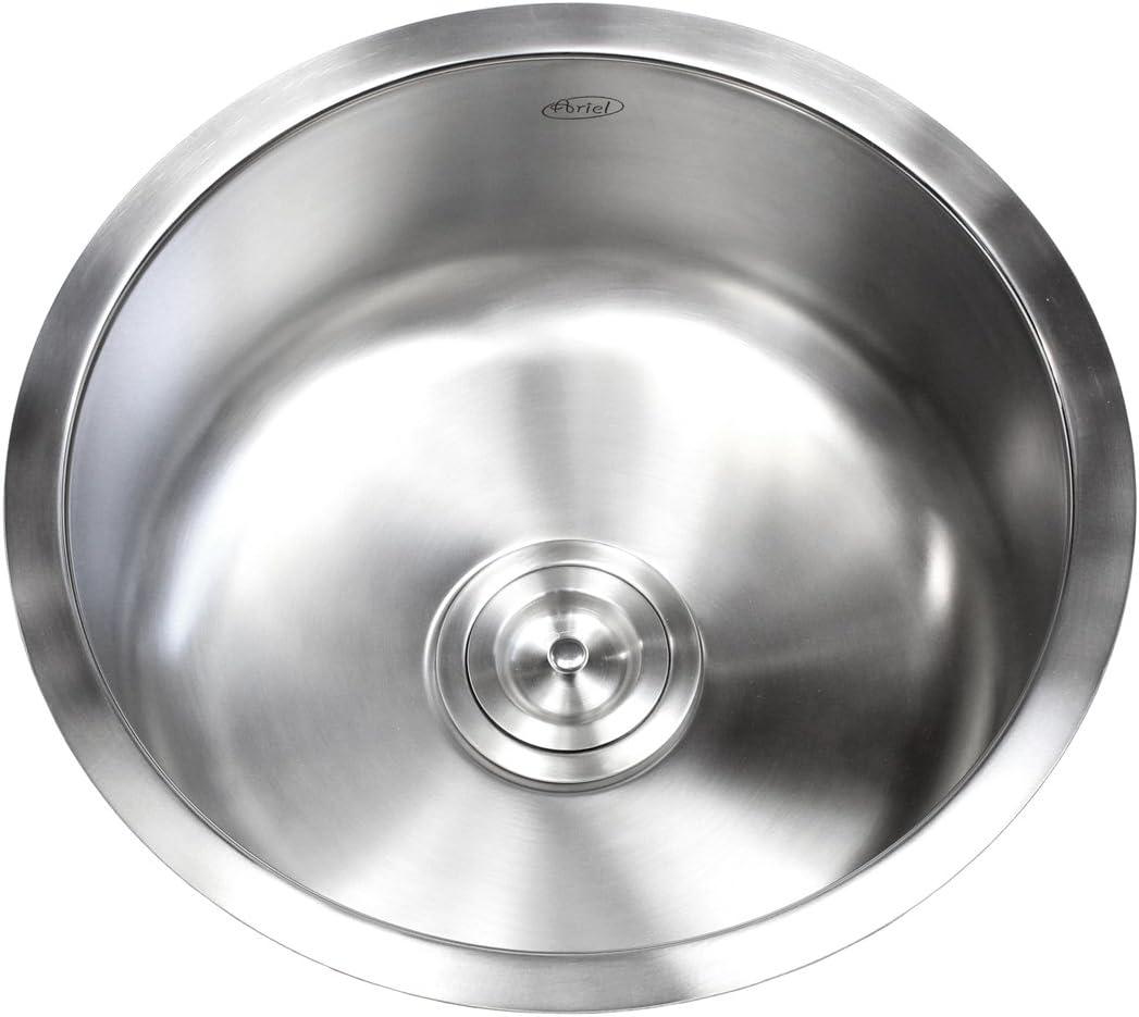 17 Inch Stainless Steel Undermount Single Bowl Kitchen Bar Prep Sink Round – 16 Gauge