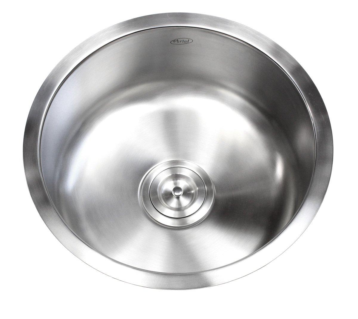 17 Inch Stainless Steel Undermount Single Bowl Kitchen / Bar / Prep Sink Round - 16 Gauge
