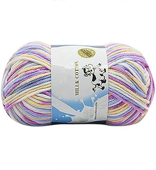 WopenJucy - Ovillo de lana artificial para tejer a mano (algodón de leche, mantas de lana, guantes y bebé): Amazon.es: Hogar