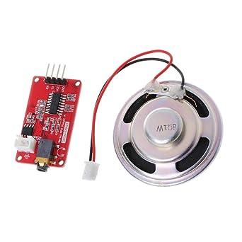 Yintiod UART - Módulo de reproductor de MP3 con altavoz mono para ...