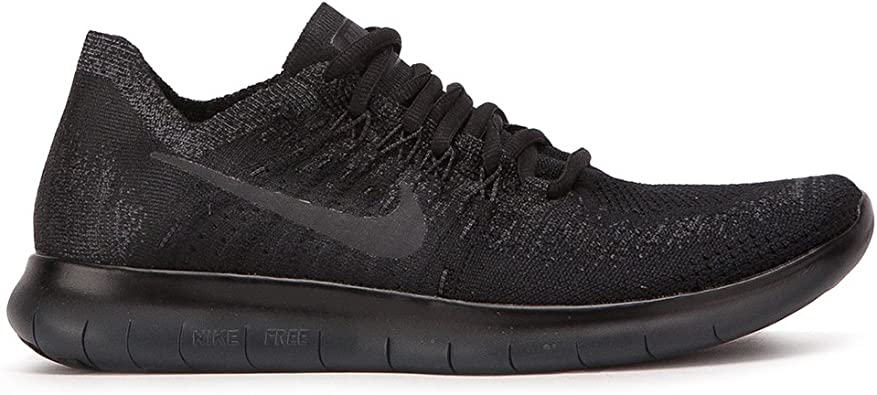 Nike Women's Free RN Flyknit 2017 Running Shoe Black/Anthracite-Anthracite  11.0