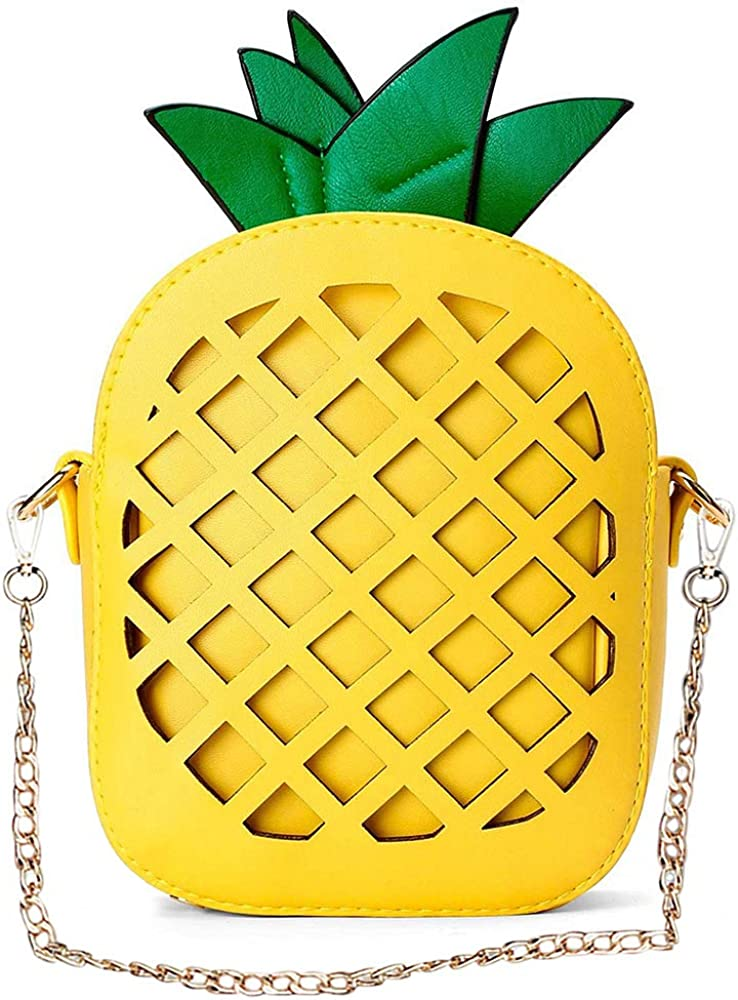 Yuboo Women's Pineapple Purse,Fruit Shaped Pu Leather Shoulder Bag (1-pineapple)