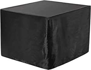 """WOMACO Heavy Duty Patio Table Cover, Gas Firepit Cover Waterproof Outdoor Furniture Cover (31"""" x 31"""" x 24"""", Black)"""