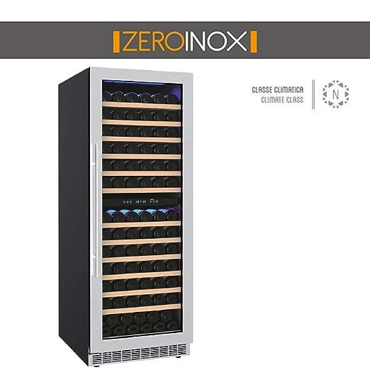 ZeroInox - Nevera vinos ventilado 371 litros Doble Temperatura ...
